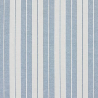 Aero Blue and White Ticking Stripes Heavy Duty Upholstery Fabric