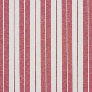 A580 Red and White Ticking Stripes Heavy Duty Upholstery Fabric
