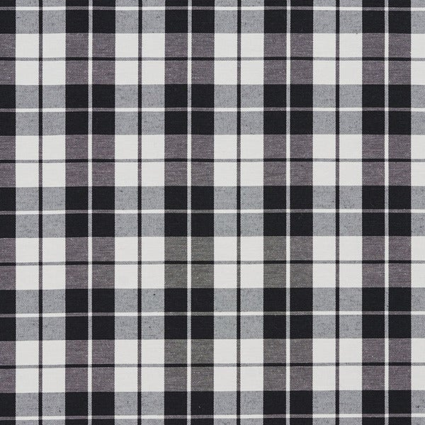 Shop Black And White Plaid Cotton Heavy Duty Upholstery Fabric