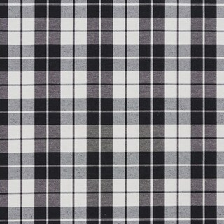 Black and White Plaid Cotton Heavy Duty Upholstery Fabric
