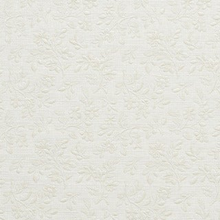 A074 Beige And Off White Leaves And Branches Upholstery Fabric