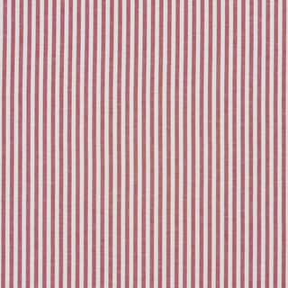 Red and White Ticking Stripes Cotton Heavy Duty Upholstery Fabric