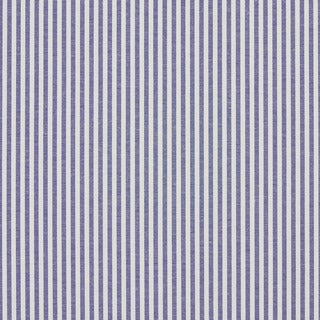 Denim Blue and White Ticking Stripes Cotton Upholstery Fabric