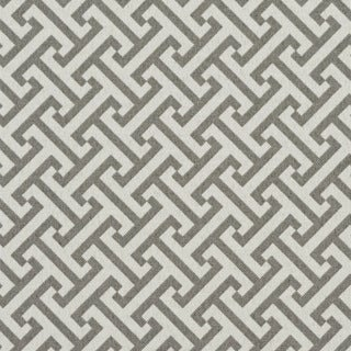 Grey And White Greek Key Outdoor Print Upholstery Fabric