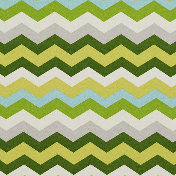 Shop Green Yellow Grey And Blue Chevron Outdoor Print Upholstery