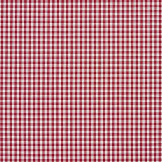 A553 Red and White Small Gingham Cotton Heavy Duty Upholstery Fabric