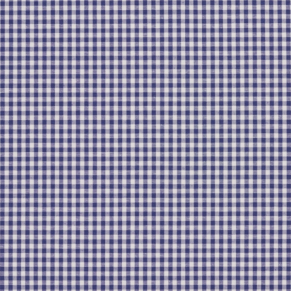Shop Denim Blue And White Small Gingham Cotton Upholstery Fabric