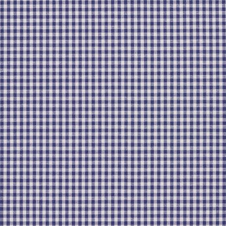 Denim Blue and White Small Gingham Cotton Upholstery Fabric