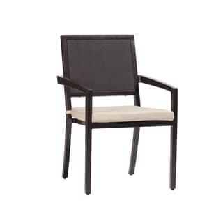 Aaron Black Aluminum Arm Chair