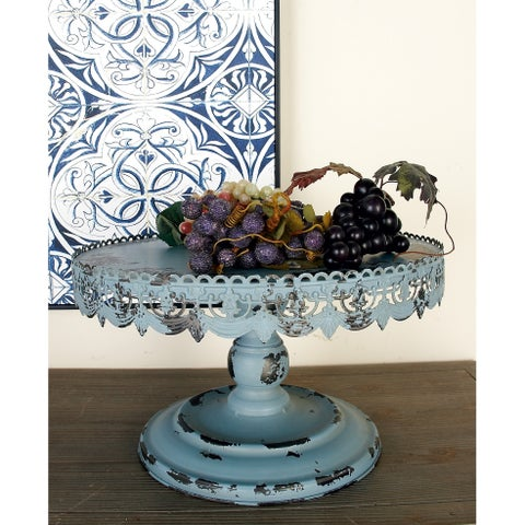 Rustic 10 X 16 Inch Iron Bunting Rim Cake Stand by Studio 350 - Blue