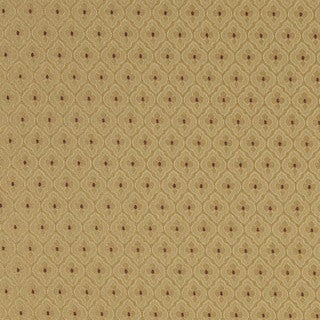 A470 Gold and Burgundy Diamond Clover Leaf Upholstery Fabric