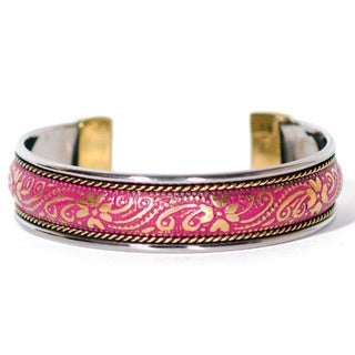 Thin Lilium Brass Bollywood Cuff (India)