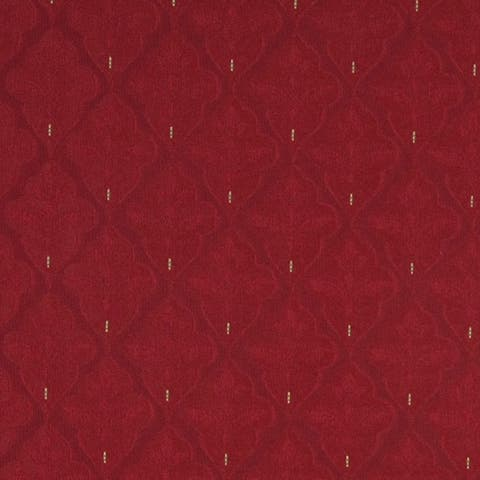 A440 Red Medallion Brocade Jacquard Upholstery Fabric