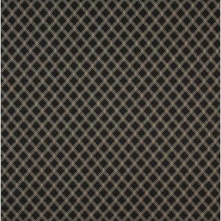 A412 Black and Beige Elegant Diamond Upholstery Fabric