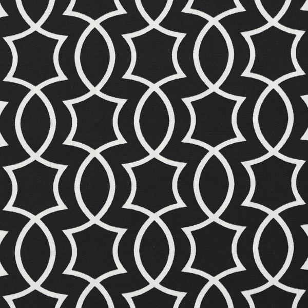 Shop Black And White Lattice Outdoor Print Upholstery Fabric Free