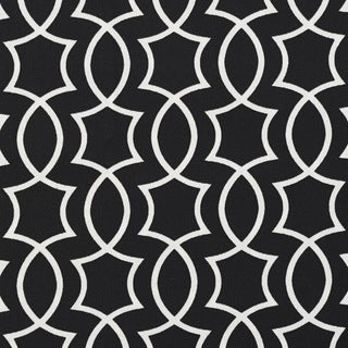 Black and White Lattice Outdoor Print Upholstery Fabric