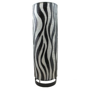 Cylinder Zebra Pattern 20-inch Lamp Shade (Indonesia)