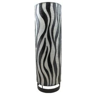 "Handmade Cylinder Zebra Pattern 20-inch Lamp Shade (Indonesia) - 20"" x 6"""