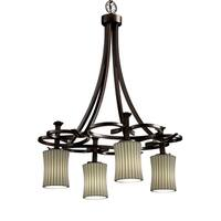 Justice Design Group Limoges-Arcadia 4-light Pleats Chandelier