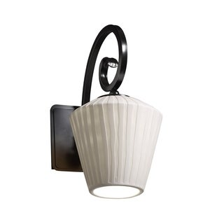 Justice Design Group Limoges-Victoria 1-light Waterfall Wall Sconce