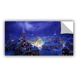 ArtWall Philip Straub 'Christmas Town' Art Appealz Removable Wall Art