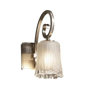 Justice Design Group Veneto Luce-Victoria Wall Sconce, Nickel