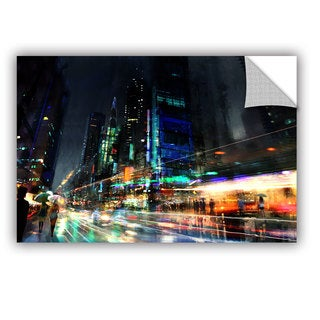 ArtWall Philip Straub 'Night City 3' Art Appealz Removable Wall Art