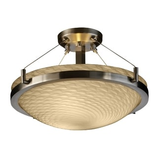 Justice Design Group Fusion-Ring 3-light Semi-flush Mount