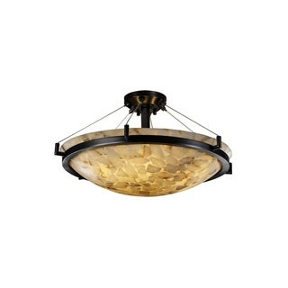Justice Design Group Alabaster Rocks-Ring 6-light Semi-flush Mount
