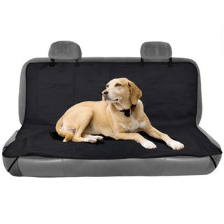 BDK TravelDog Black Oxford Hammock Waterproof Car Bench Seat Cover for Pets