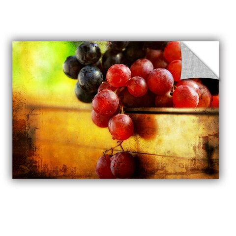ArtWall Dragos Dumitrascu 'Autumn Grapes' Art Appealz Removable Wall Art