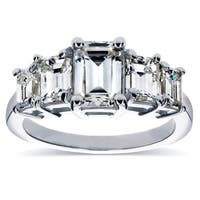 Annello by Kobelli White Gold Moissanite and 1 1/3ct TDW Diamond Engagement Ring (H-I, SI)