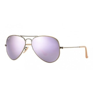 Ray Ban Unisex RB3025 Lilac Mirror Aviator Sunglasses