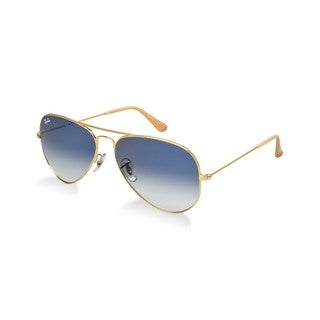 Ray-Ban Aviator RB3025 Gold Aviator Light Blue Lenses Sunglasses