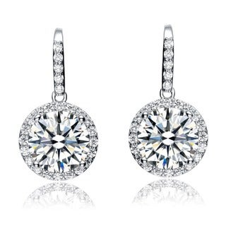 Collette Z Sterling Silver Cubic Zirconia Classic Drop Earrings