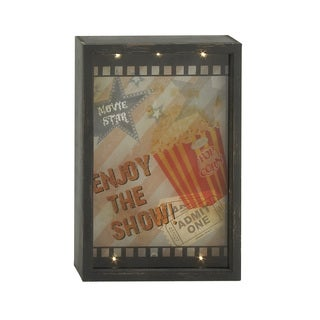 16-inch Wood Led Wall Decor Vintage Movie Display Screen