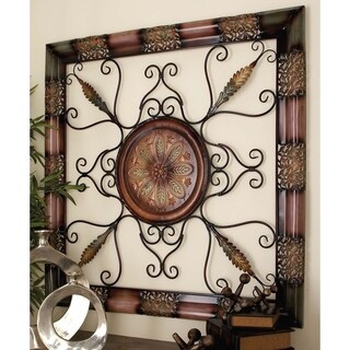 45-inch Old World Open Scrollwork Wall Sculpture