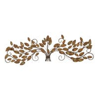 The Gray Barn Jartop Gathered Leaves On Iron 47-inch Wire Branches Wall Sculpture