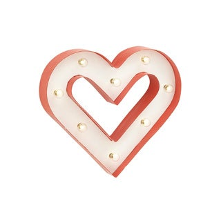 14-inch Heart Wall Decoration Red Outer Layer White Inner Color