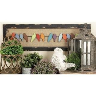 32-inch Mottled White Wood Horizontal Wall Panel