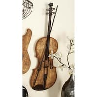 36-inch Natural Wood Grain Electric Guitar Wall Sculpture