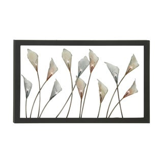 22-inch Metal Flower Wall Sculpture