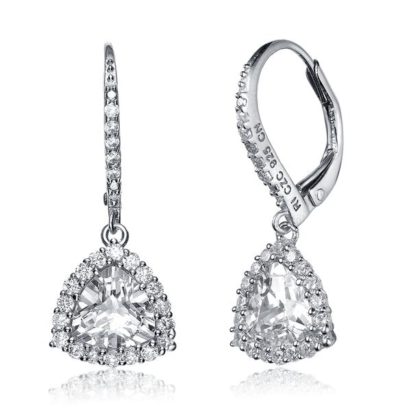 Collette Z Sterling Silver Cubic Zirconia Drop Earrings