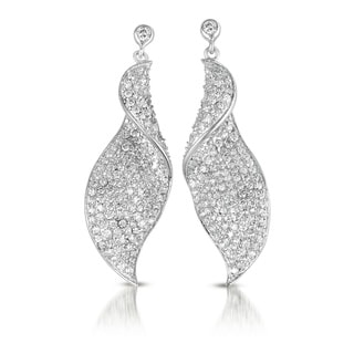 Collette Z Sterling Silver Pave-set Drop Earrings