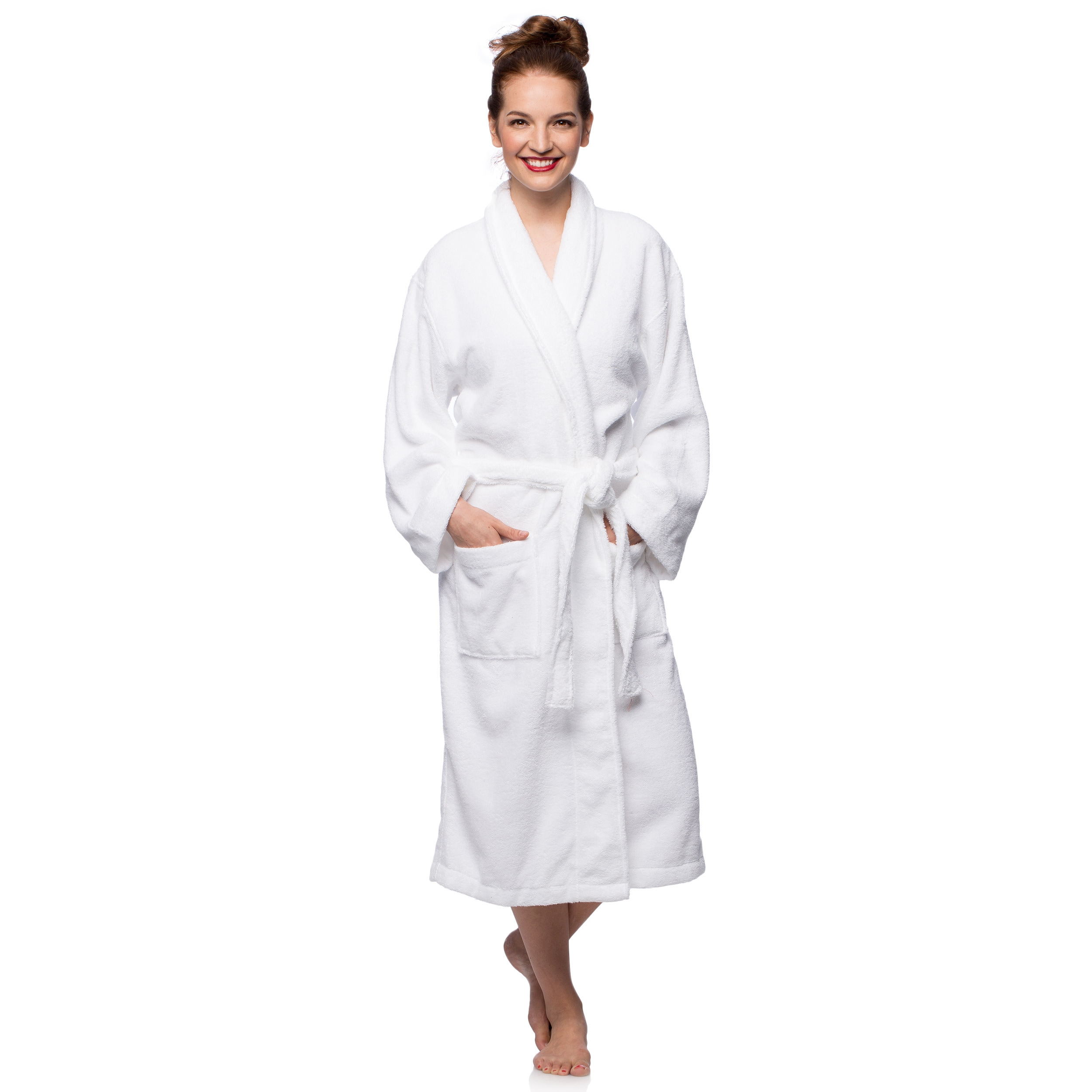 Cheer Collection Terry Robe (Extra Large - White), Size: ...