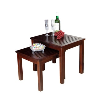 Bianco Collection 3 Piece Espresso Nesting Table Set