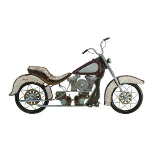 30-inch Bronze And Graphite Grey Iron Vintage Style Motorcycle Wall Art