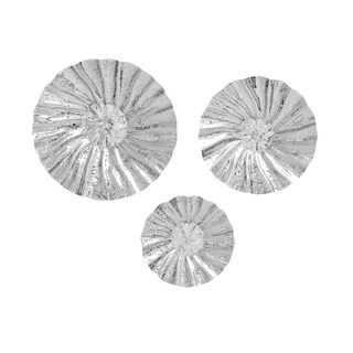 Contemporary Fluted Stainless Steel Wall Discs (Set of 3)