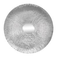 Contemporary 36 Inch Striated Stainless Steel Wall Disc by Studio 350