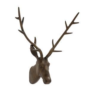 28-inch Aluminum Black Matte Reindeer Trophy Head